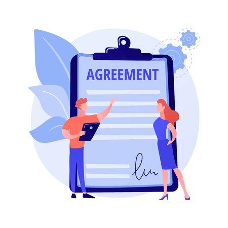 Agreement signing vector concept metaphor