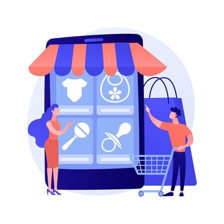 Online shopping vector concept metaphor 일러스트