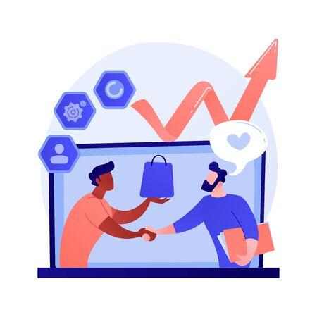 Customer relationship management vector concept metaphor