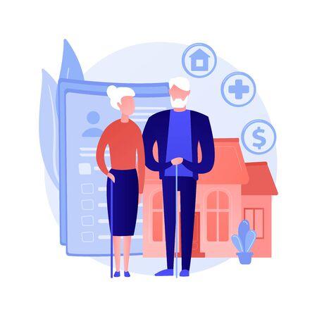 Retirement estate planning vector concept metaphor