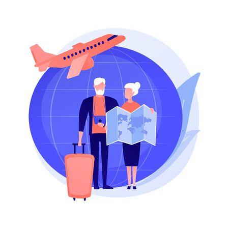 Retirement travel vector concept metaphor Illustration