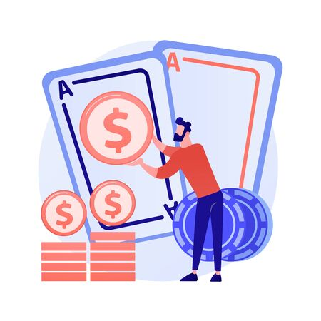 Gambling winnings vector concept metaphor.
