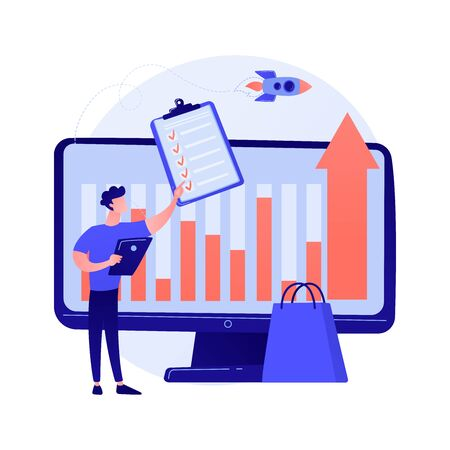 Share in business vector concept metaphor. Ilustracja