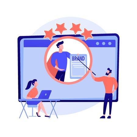 Personal branding course vector concept metaphor 向量圖像