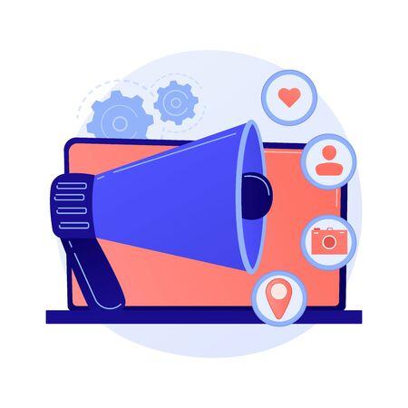 Social media ad vector concept metaphor. Illustration