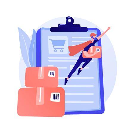 Online order delivery service vector concept metaphor.