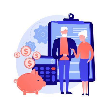 Retirement preparation vector concept metaphor