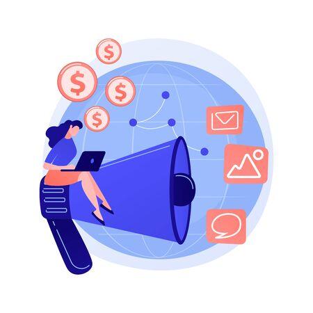 Intercontinental online business vector concept metaphor. Vector Illustration