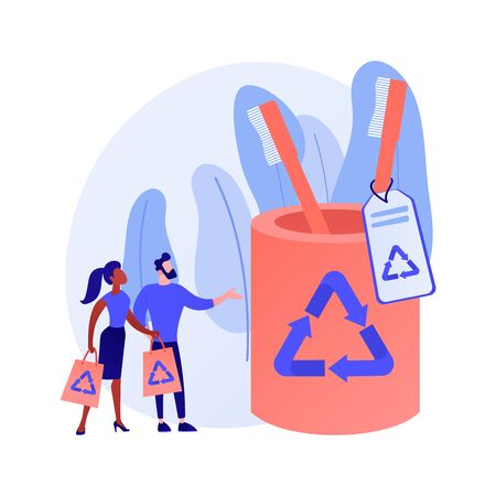 Plastic free hygiene products vector concept metaphor.