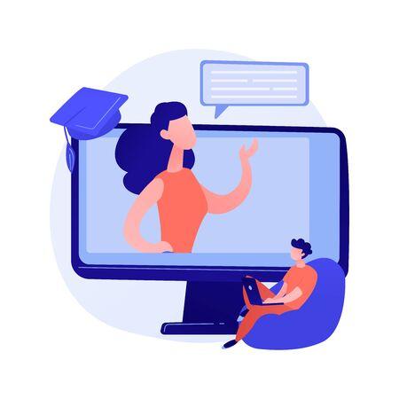 Online workshop vector concept metaphor Illustration