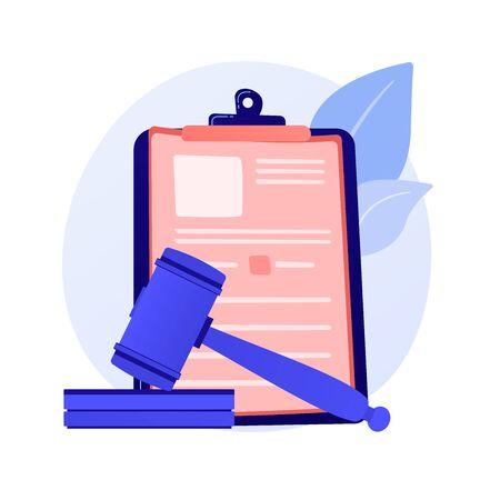 Legal statement vector concept metaphor Ilustracje wektorowe
