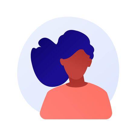 Woman portrait vector concept metaphor