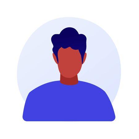 African american man portrait vector concept metaphor 向量圖像