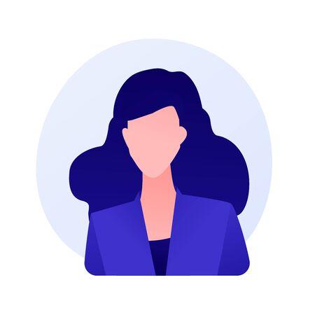 Young woman passport photo vector concept metaphor 向量圖像