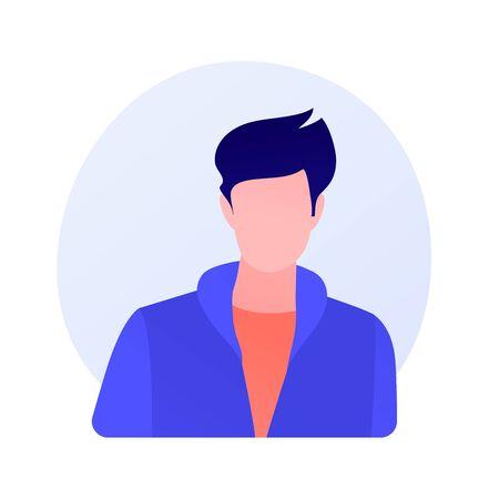 Young man full face portrait vector concept metaphor
