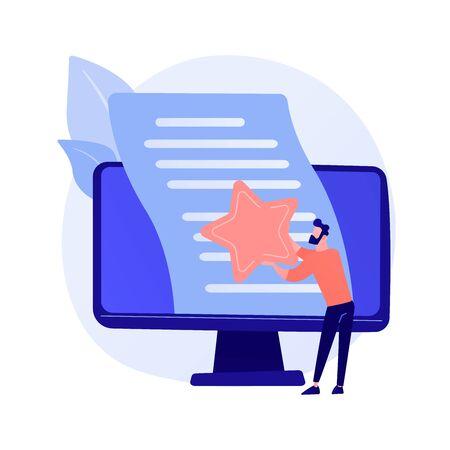 Article evaluation vector concept metaphor Illusztráció
