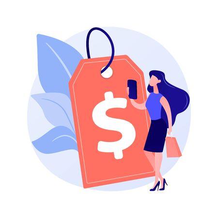 Profitable pricing strategy vector concept metaphor Stock Illustratie