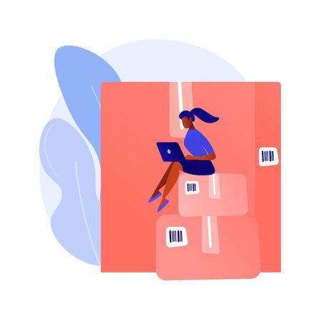 Relocation services vector concept metaphor