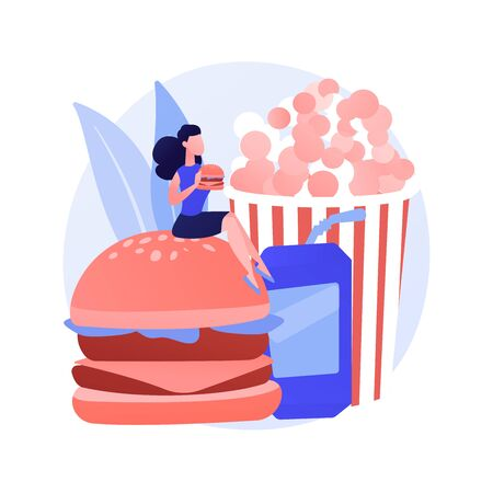 Unhealthy nutrition vector concept metaphor  イラスト・ベクター素材