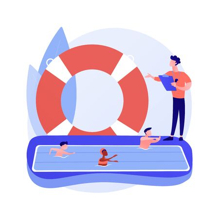 Swimming classes vector concept metaphor