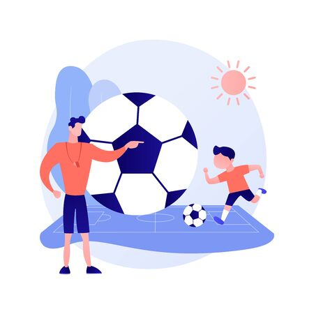 Soccer camp vector concept metaphor