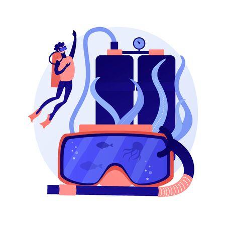 Diving school vector concept metaphor