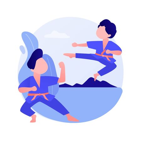 Martial arts school vector concept metaphor Ilustração