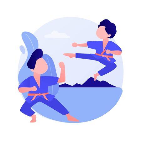 Martial arts school vector concept metaphor Illustration