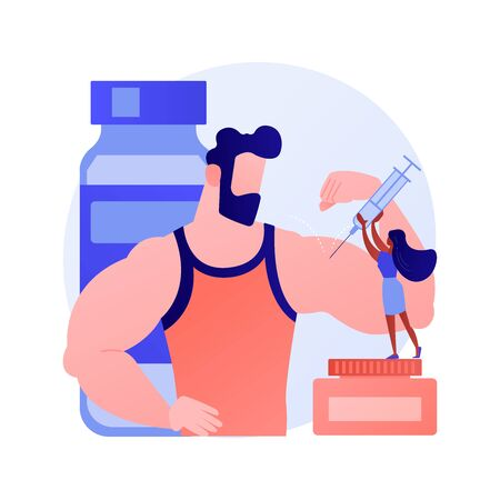 Synthol injection vector concept metaphor Illustration