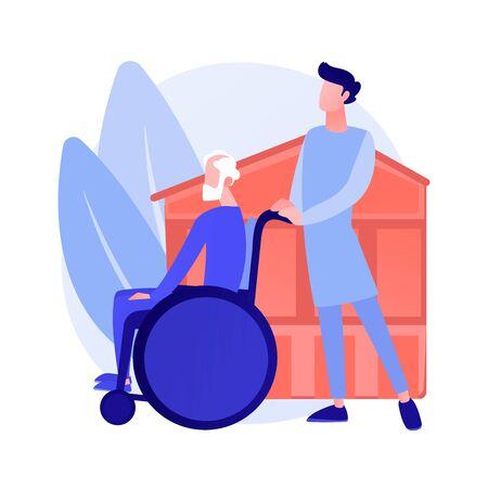 Nursing home vector concept metaphor Stock Illustratie