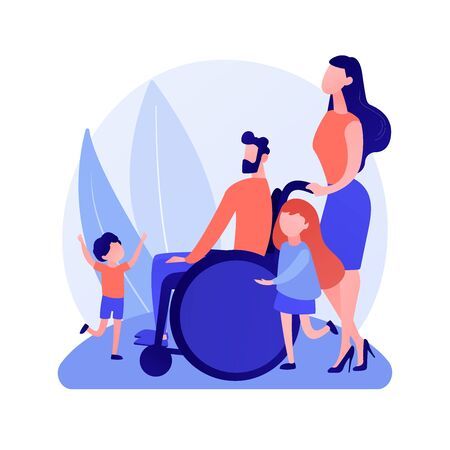Family care and support vector concept metaphor Stock Illustratie