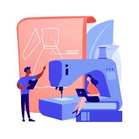 Sewing classes vector concept metaphor Vektorové ilustrace