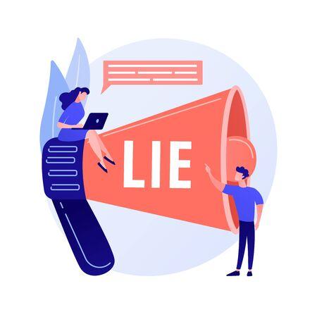 Telling lies vector concept metaphor Ilustración de vector