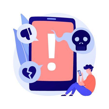 Cyberbullying in social media vector concept metaphor