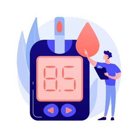 Diabetes mellitus vector concept metaphor Ilustracje wektorowe