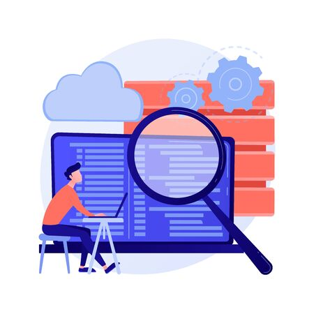 QA tester vector concept metaphor Stock Illustratie