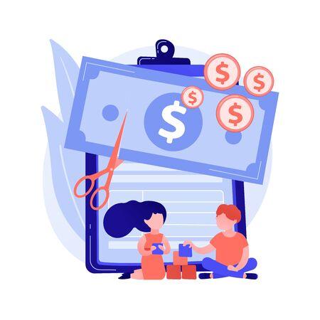 Cut price vector concept metaphor
