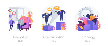 People diversity abstract concept vector illustrations.
