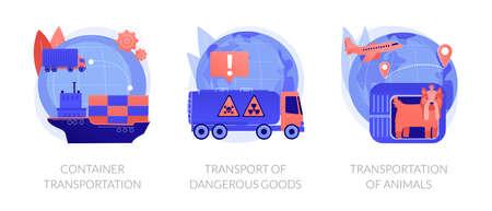 Freight distribution vector concept metaphors.