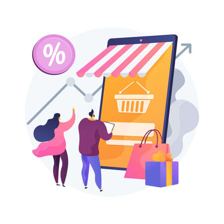 Consumer demand abstract concept vector illustration. Customer decision, buy product or service, consumer satisfaction, retail marketing, market price, consumption society abstract metaphor.