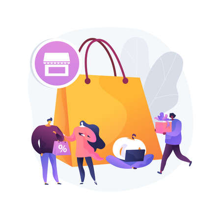 Consumer society abstract concept vector illustration. Consumption of goods and services, compulsive purchase, shopaholic, retail market, customer habits, online retail app abstract metaphor.