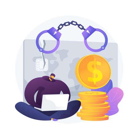 Credit card fraud vector concept metaphor