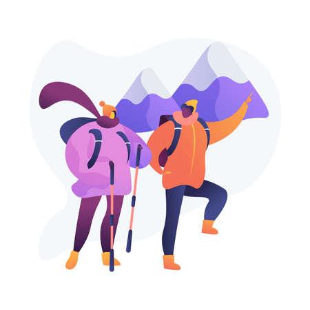 Mountain expedition vector concept metaphor
