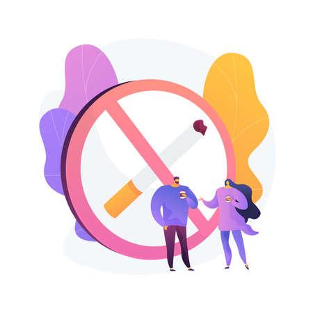 Smoke free zone vector concept metaphor