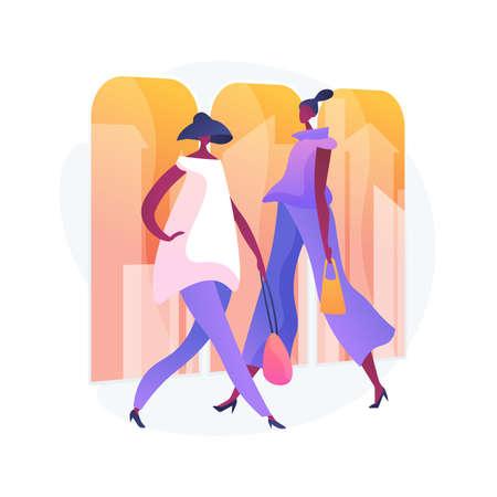 Fashion week vector concept metaphor  イラスト・ベクター素材