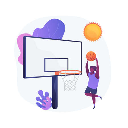 Basketball camp vector concept metaphor