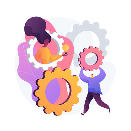 STEM activities abstract concept vector illustration.  イラスト・ベクター素材