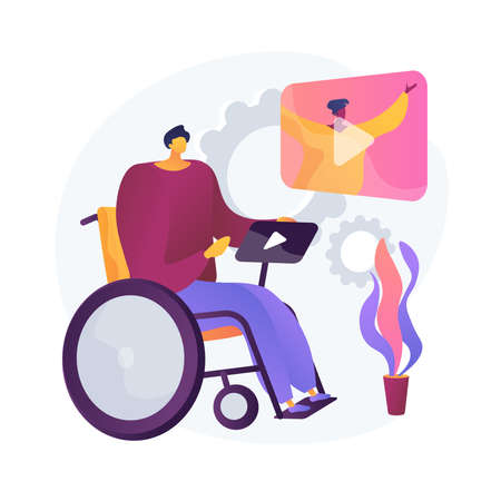 Disability entertainment vector concept metaphor