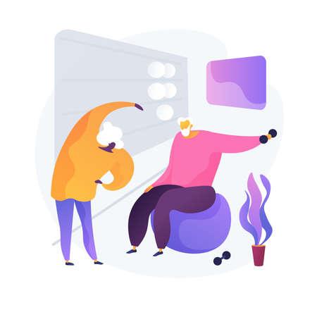 Fitness for elderly people vector concept metaphor