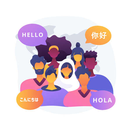 Ethnicity abstract concept vector illustration. Ethnic group, common language, ancestry and history, cultural heritage, national cuisine, social difference, human rights abstract metaphor.
